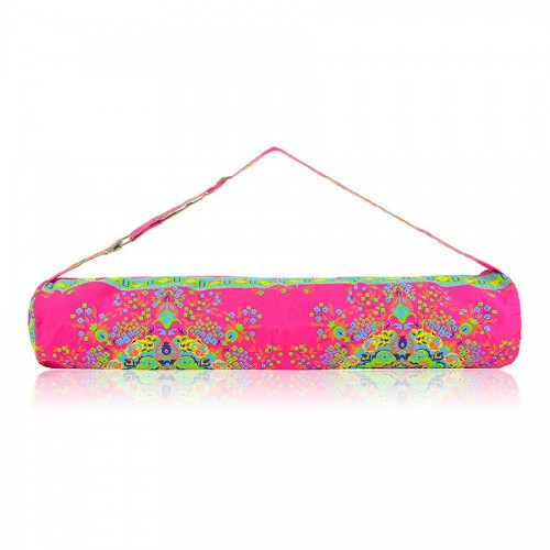 Boho Yoga Mat Bag Secret Mandala Hot Pink
