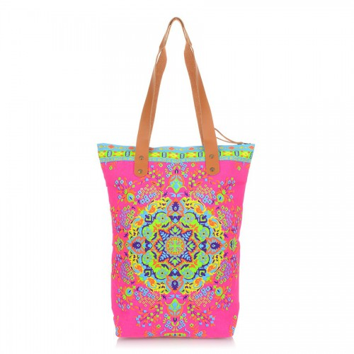 Boho Secret Mandala Hot Pink
