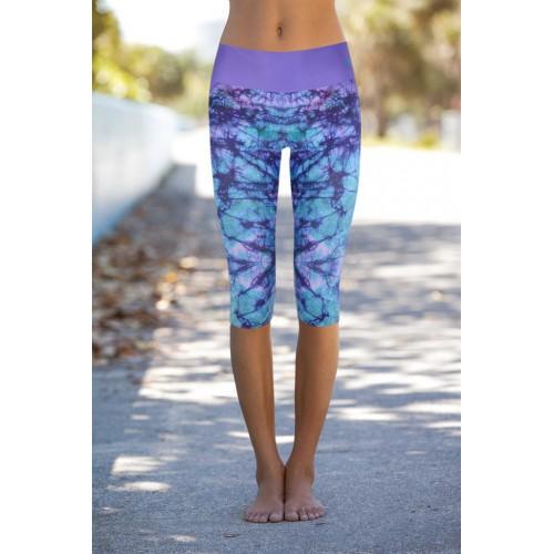Boho Tie Dyed Capri L/XL