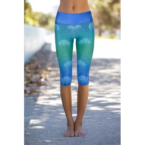 Boho Jellyfish Blue S/M Capri