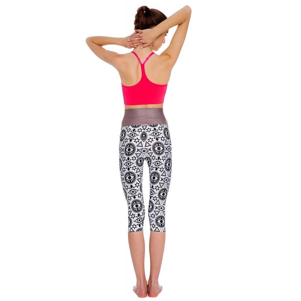 b8d7baf86a08aa Boho All Seeing Eye Capri L/XL - Brightboho Yoga Leggings
