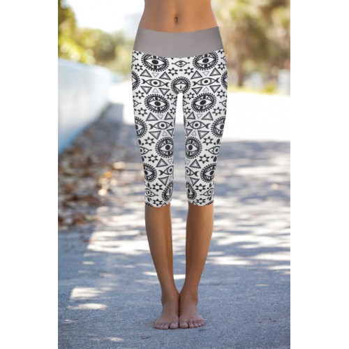 Boho All Seeing Eye Capri L/XL