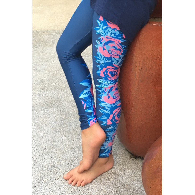 NAVY FLORAL LEGGINGS 134 KIDS