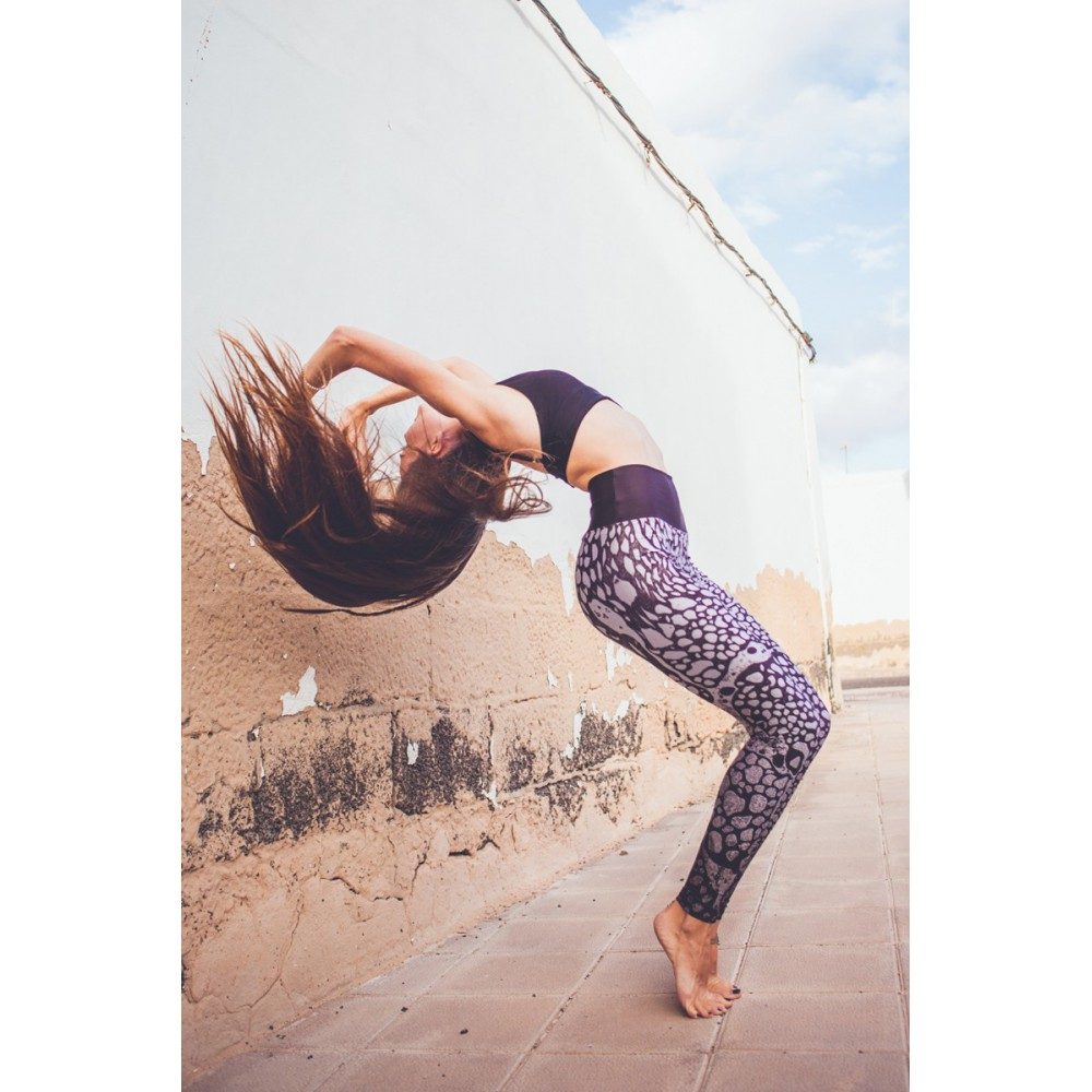 2c66f750bfac95 Boho Silver Marble Leggins S/M - Brightboho Yoga Leggings