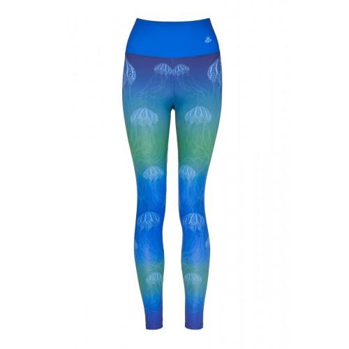 Boho Jellyfish Blue Leggins S/M