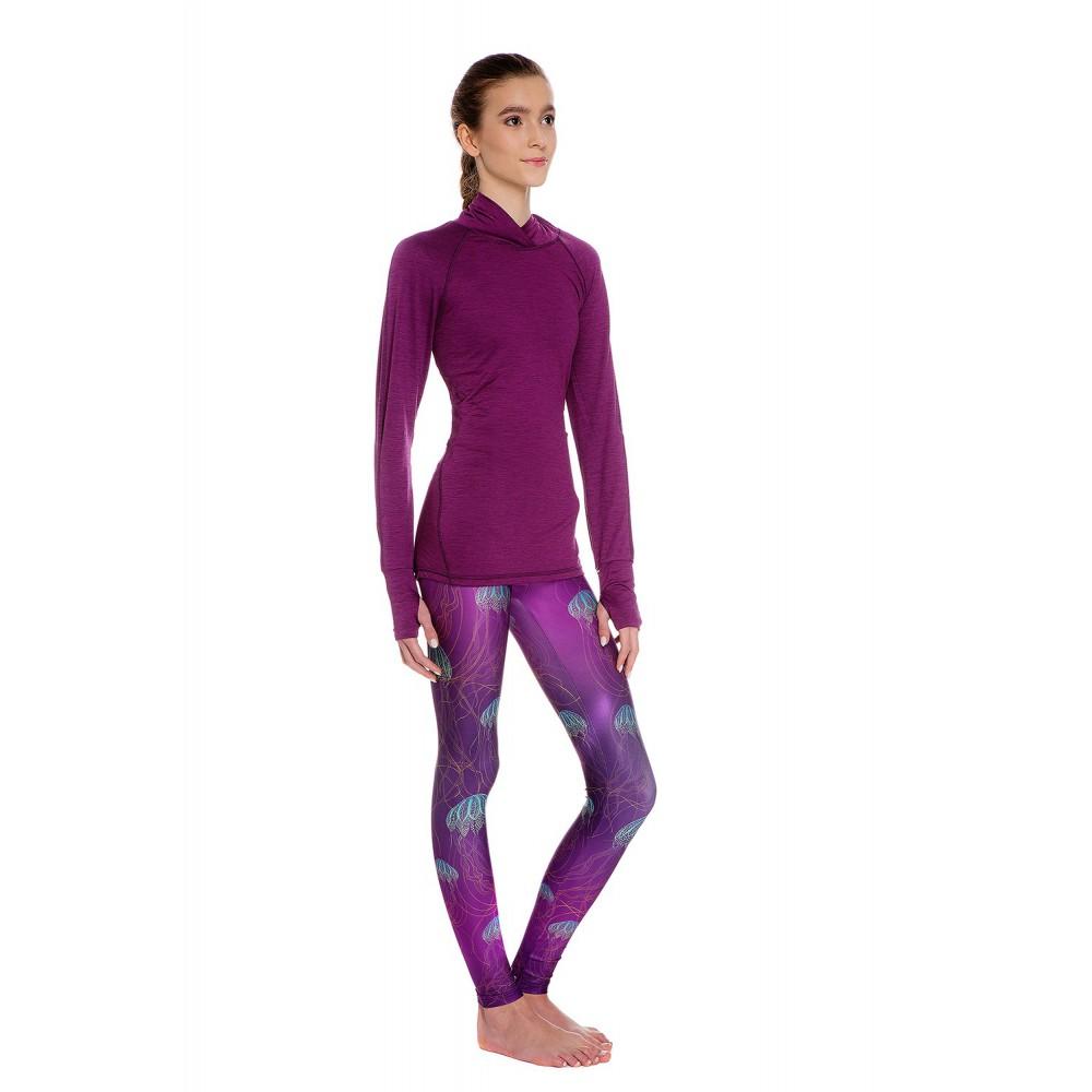 65002133742cf0 Boho Jellyfish Purple Leggins S/M - Brightboho Yoga Leggings