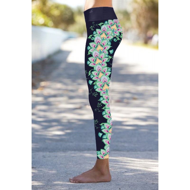 Oriental Navy Leggings S/M