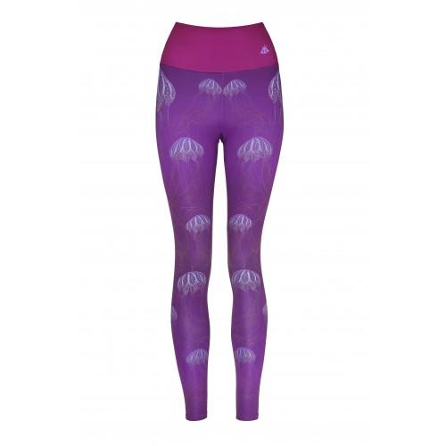 Boho Jellyfish Purple Leggins S/M